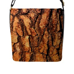 Bark Texture Wood Large Rough Red Wood Outside California Flap Messenger Bag (l)  by BangZart