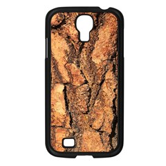 Bark Texture Wood Large Rough Red Wood Outside California Samsung Galaxy S4 I9500/ I9505 Case (black) by BangZart