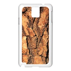 Bark Texture Wood Large Rough Red Wood Outside California Samsung Galaxy Note 3 N9005 Case (white) by BangZart