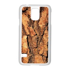 Bark Texture Wood Large Rough Red Wood Outside California Samsung Galaxy S5 Case (white)