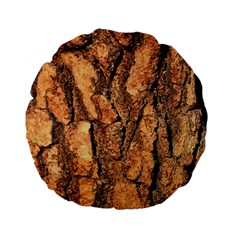 Bark Texture Wood Large Rough Red Wood Outside California Standard 15  Premium Flano Round Cushions