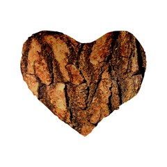 Bark Texture Wood Large Rough Red Wood Outside California Standard 16  Premium Flano Heart Shape Cushions by BangZart