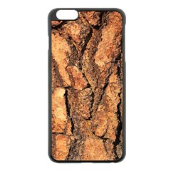 Bark Texture Wood Large Rough Red Wood Outside California Apple Iphone 6 Plus/6s Plus Black Enamel Case by BangZart