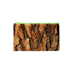 Bark Texture Wood Large Rough Red Wood Outside California Cosmetic Bag (xs) by BangZart