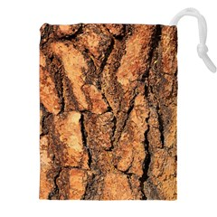 Bark Texture Wood Large Rough Red Wood Outside California Drawstring Pouches (xxl)