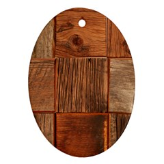 Barnwood Unfinished Ornament (oval)