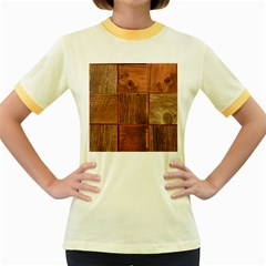 Barnwood Unfinished Women s Fitted Ringer T Shirts