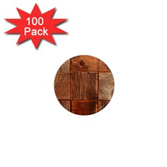 Barnwood Unfinished 1  Mini Magnets (100 Pack)  by BangZart