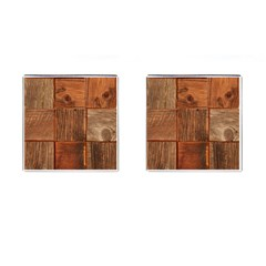 Barnwood Unfinished Cufflinks (square)