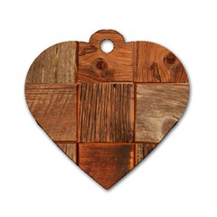 Barnwood Unfinished Dog Tag Heart (one Side) by BangZart