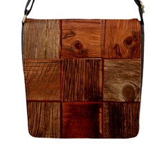 Barnwood Unfinished Flap Messenger Bag (l)  by BangZart