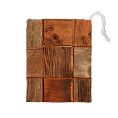 Barnwood Unfinished Drawstring Pouches (large)