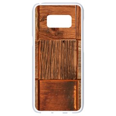 Barnwood Unfinished Samsung Galaxy S8 White Seamless Case by BangZart