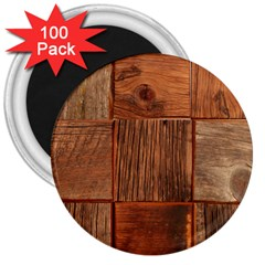 Barnwood Unfinished 3  Magnets (100 Pack)