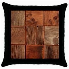 Barnwood Unfinished Throw Pillow Case (black) by BangZart