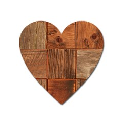 Barnwood Unfinished Heart Magnet by BangZart