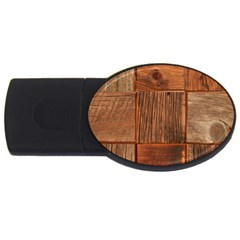 Barnwood Unfinished Usb Flash Drive Oval (2 Gb)