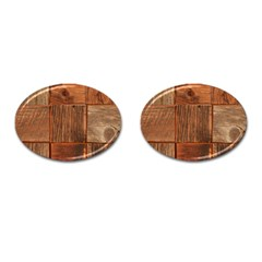 Barnwood Unfinished Cufflinks (oval) by BangZart