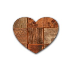 Barnwood Unfinished Rubber Coaster (heart)  by BangZart