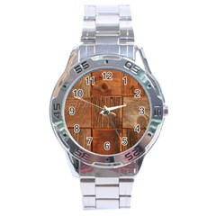 Barnwood Unfinished Stainless Steel Analogue Watch