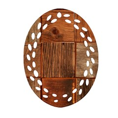 Barnwood Unfinished Ornament (oval Filigree) by BangZart