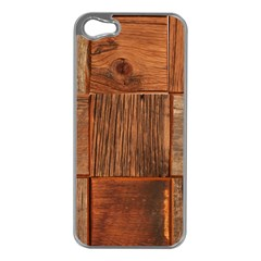 Barnwood Unfinished Apple Iphone 5 Case (silver)