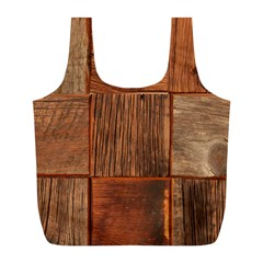 Barnwood Unfinished Full Print Recycle Bags (l)  by BangZart