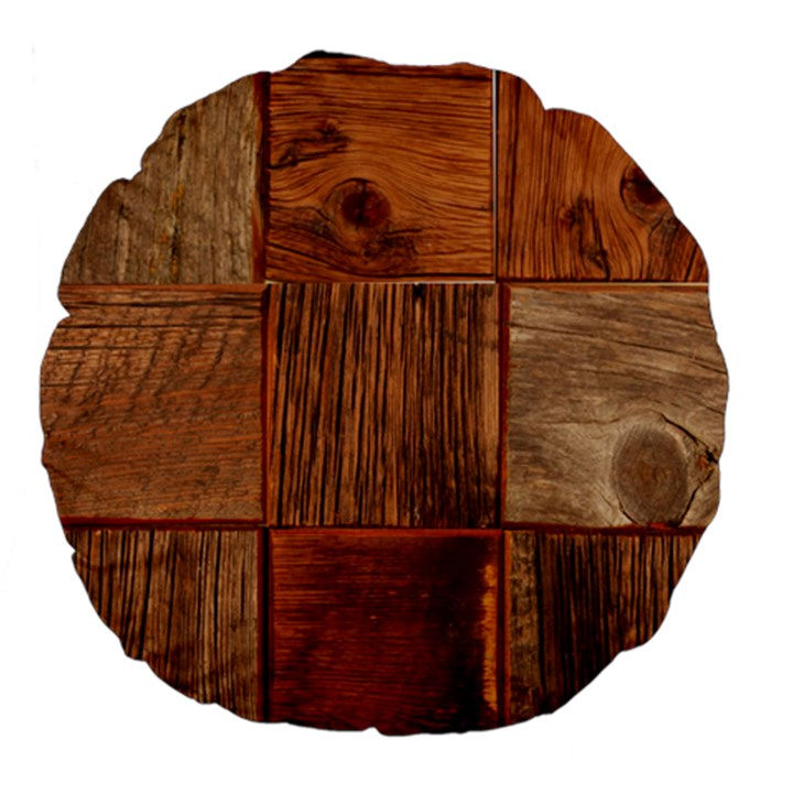 Barnwood Unfinished Large 18  Premium Flano Round Cushions