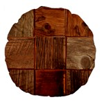 Barnwood Unfinished Large 18  Premium Flano Round Cushions Back