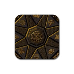 Aztec Runes Rubber Coaster (square)  by BangZart