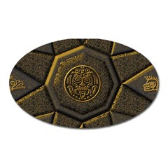 Aztec Runes Oval Magnet by BangZart