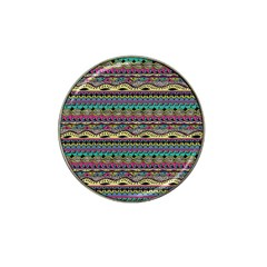 Aztec Pattern Cool Colors Hat Clip Ball Marker