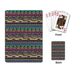 Aztec Pattern Cool Colors Playing Card