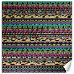 Aztec Pattern Cool Colors Canvas 20  X 20