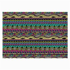 Aztec Pattern Cool Colors Large Glasses Cloth (2 Side) by BangZart