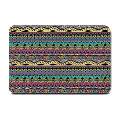Aztec Pattern Cool Colors Small Doormat  by BangZart