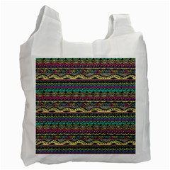 Aztec Pattern Cool Colors Recycle Bag (one Side) by BangZart