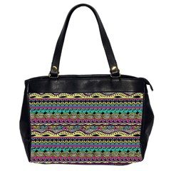 Aztec Pattern Cool Colors Office Handbags (2 Sides)