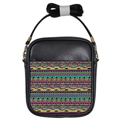 Aztec Pattern Cool Colors Girls Sling Bags