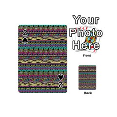 Aztec Pattern Cool Colors Playing Cards 54 (mini)