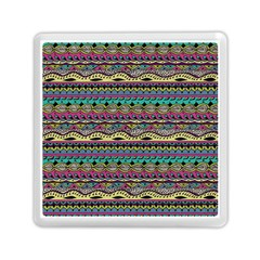 Aztec Pattern Cool Colors Memory Card Reader (square)  by BangZart