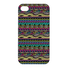 Aztec Pattern Cool Colors Apple Iphone 4/4s Premium Hardshell Case by BangZart