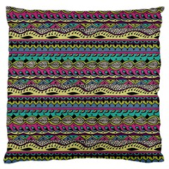 Aztec Pattern Cool Colors Large Cushion Case (two Sides)