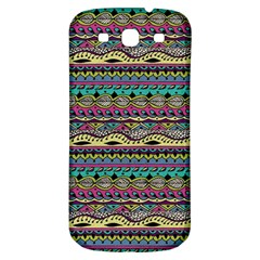 Aztec Pattern Cool Colors Samsung Galaxy S3 S Iii Classic Hardshell Back Case