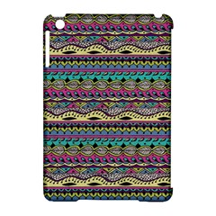 Aztec Pattern Cool Colors Apple Ipad Mini Hardshell Case (compatible With Smart Cover) by BangZart