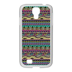 Aztec Pattern Cool Colors Samsung Galaxy S4 I9500/ I9505 Case (white) by BangZart