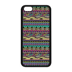 Aztec Pattern Cool Colors Apple Iphone 5c Seamless Case (black) by BangZart