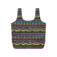 Aztec Pattern Cool Colors Full Print Recycle Bags (s)