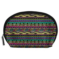 Aztec Pattern Cool Colors Accessory Pouches (large)  by BangZart