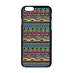 Aztec Pattern Cool Colors Apple Iphone 6/6s Black Enamel Case by BangZart